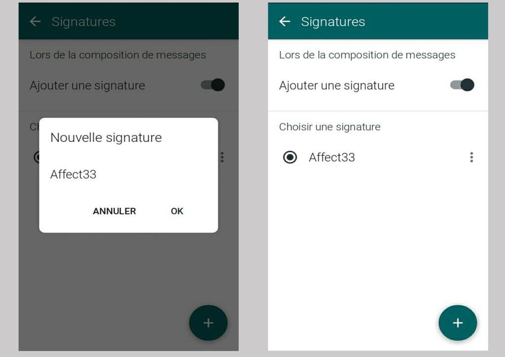 créer des signatures