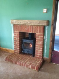 Brick Fireplace Surround Alton, Hampshire - Fire Bug Wood ...