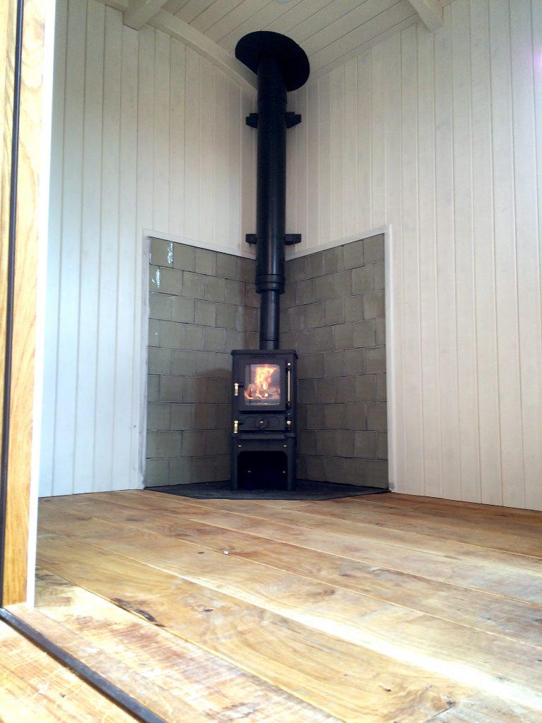 Small Wood Burning Stove Installation Farnham Surrey