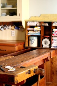 kitchen workbench counter - Log Cabin Cooking