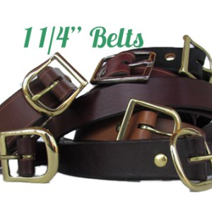 """Quality Leather Belts 1 1/4 """" from Premium Hides"""