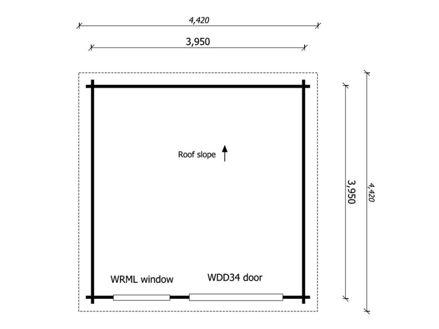 Premium Moderna office - Keops Interlock Log Cabins