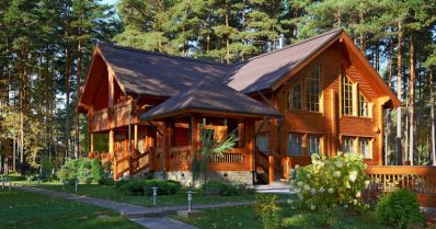 houten woonhuizen