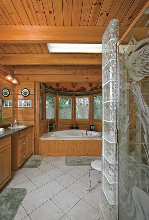 Photos of a Custom Log Home in Rural Florida