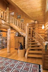 Photos of an Old-Fashioned Log Home