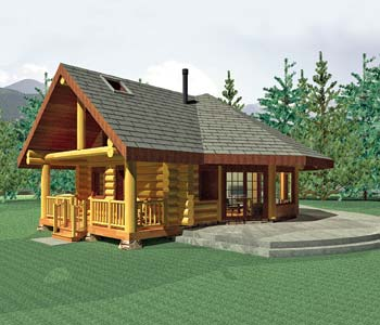 Small Log Homes Design Contest #5 Aspen Meadow By Summit