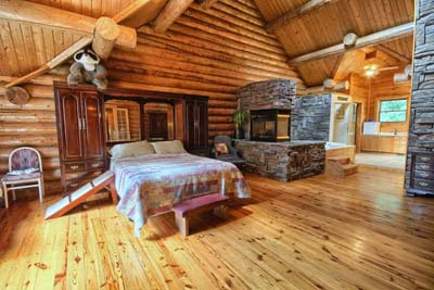 Luxury Log Cabin Home  For Sale  1221 Lancelot in