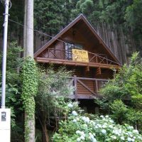 【売買】650万円 兵庫県神崎郡神河町川上 林の中の傾斜地に建つ2LDKログハウス