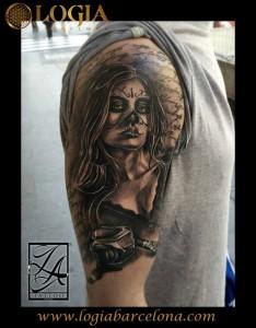 Tatuajes Brazo Mujer Catrina