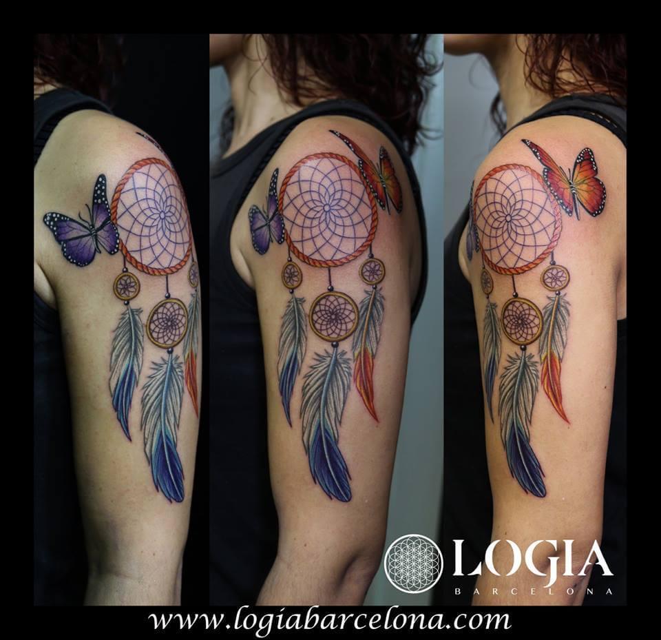 Tatuajes De Atrapasueños Tatuajes Logia Barcelona