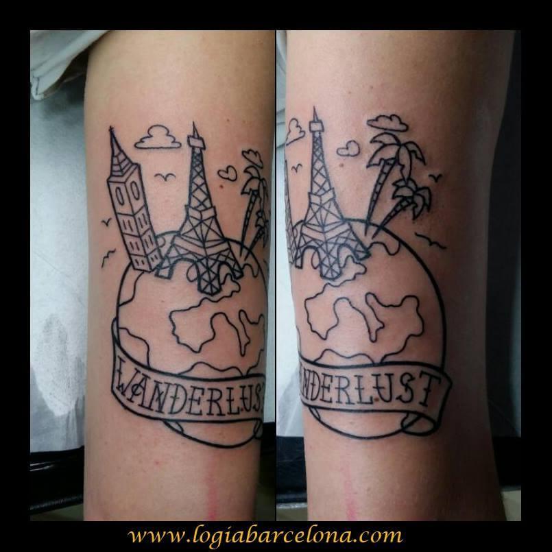 Tatuajes Wanderlust Tatuajes Logia Barcelona