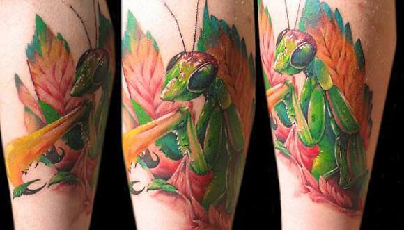 Tatuajes De Mantis Religiosa Una Peculiar Forma De Belleza