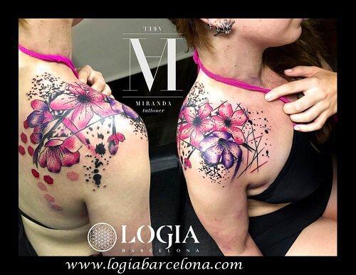 Flores Tatuadas Procedentes De Asia Tatuajes Logia Barcelona