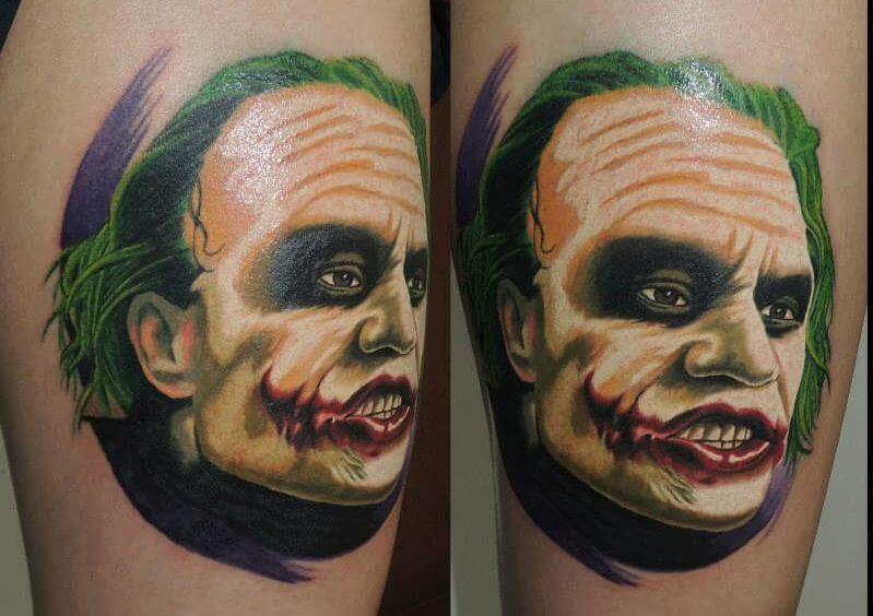 El Joker Lucirá Nuevos Tatuajes Tatuajes Logia Barcelona