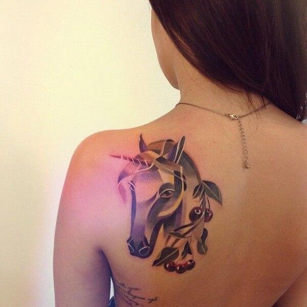 Tattoo De Unicornio Tatuajes Logia Barcelona