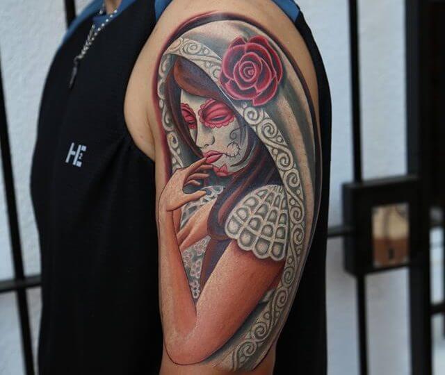 Tatuajes De Catrinas Mexicanas Tatuajes Logia Barcelona