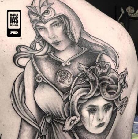 Atenea Vs Medusa Tatuajes Logia Barcelona