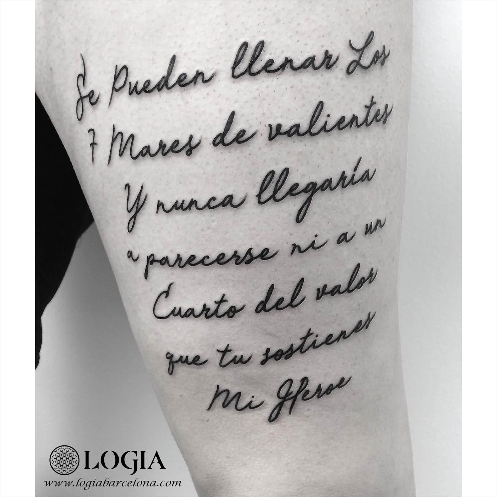 Tatuajes De Frases En Español Para Hijos Logia Tattoo Barcelona