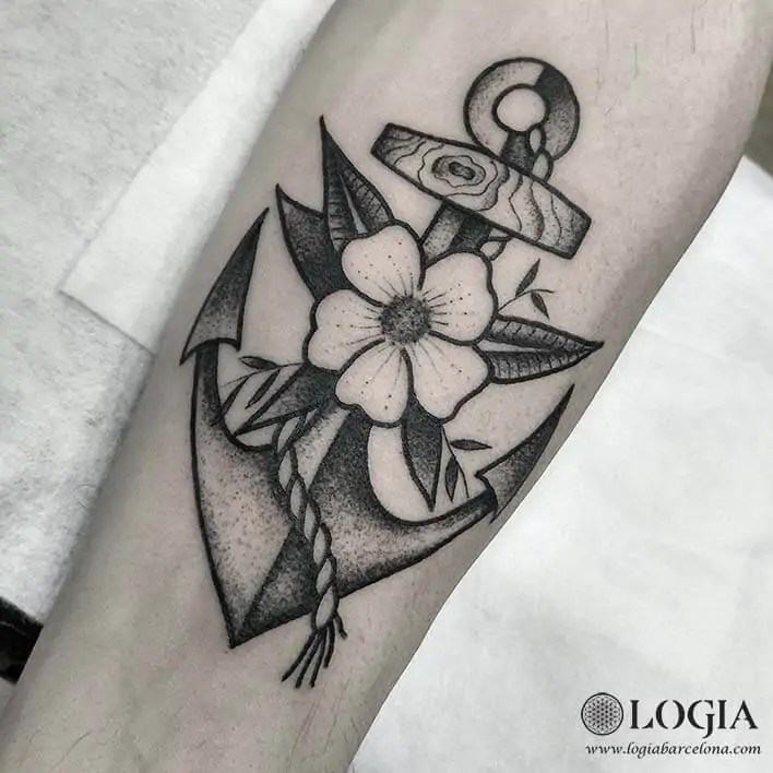 Tatuajes De Anclas Logia Tattoo Barcelona