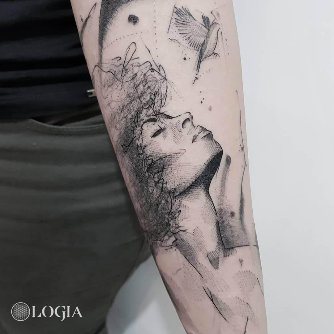 Tatuajes De Caras De Mujeres Logia Tattoo Barcelona
