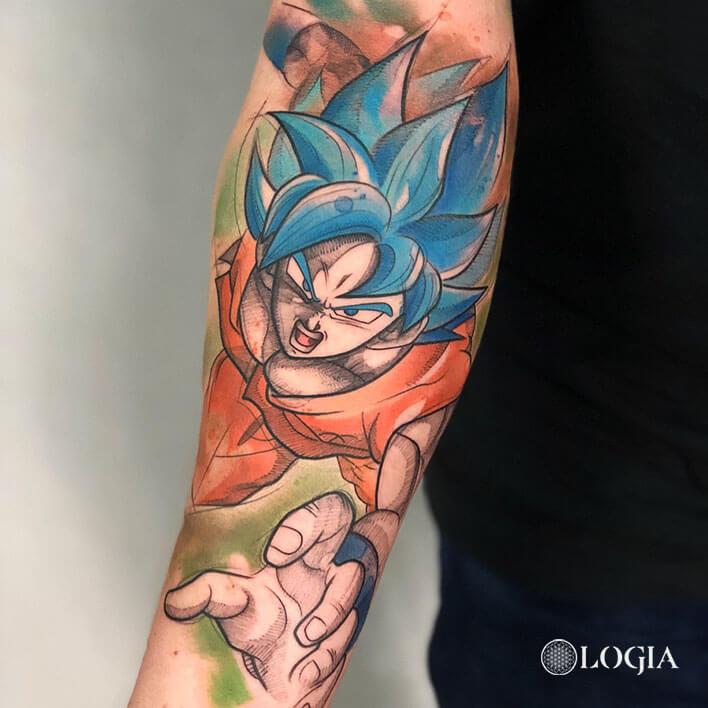 Tatuajes De Goku Logia Tattoo Barcelona