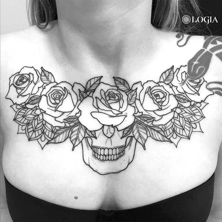Tatuaje Pectoral En Hombres Y Mujeres Logia Tattoo Barcelona