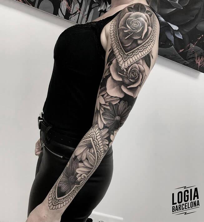 Tatuajes De Flores En El Brazo Logia Tattoo Barcelona