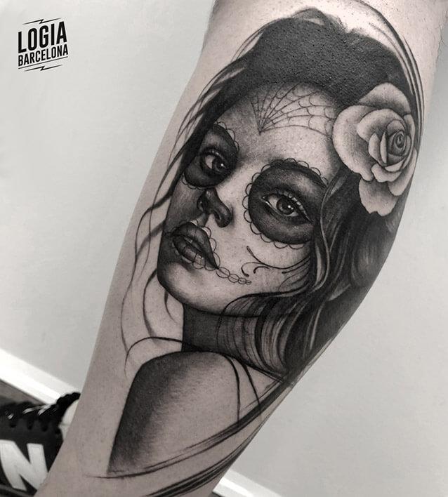 Tatuajes De Catrinas Logia Tattoo Barcelona