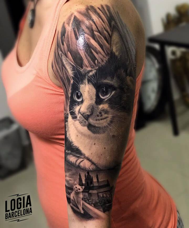 Tatuajes De Gatos Logia Tattoo Barcelona