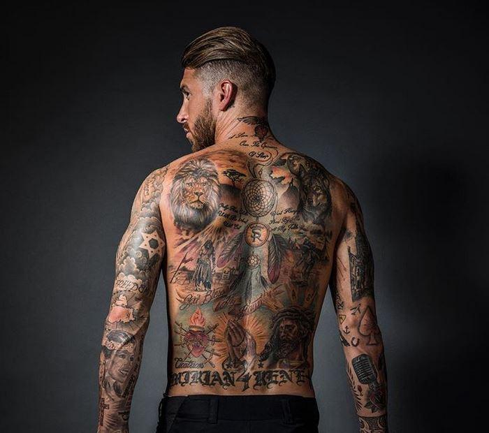 Los Tatuajes De Sergio Ramos 2019 Tatuajes Logia Barcelona