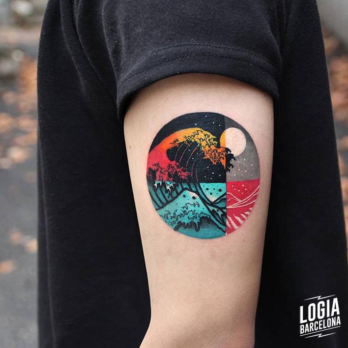 Tatuajes De Sol Y Luna Logia Tattoo Barcelona