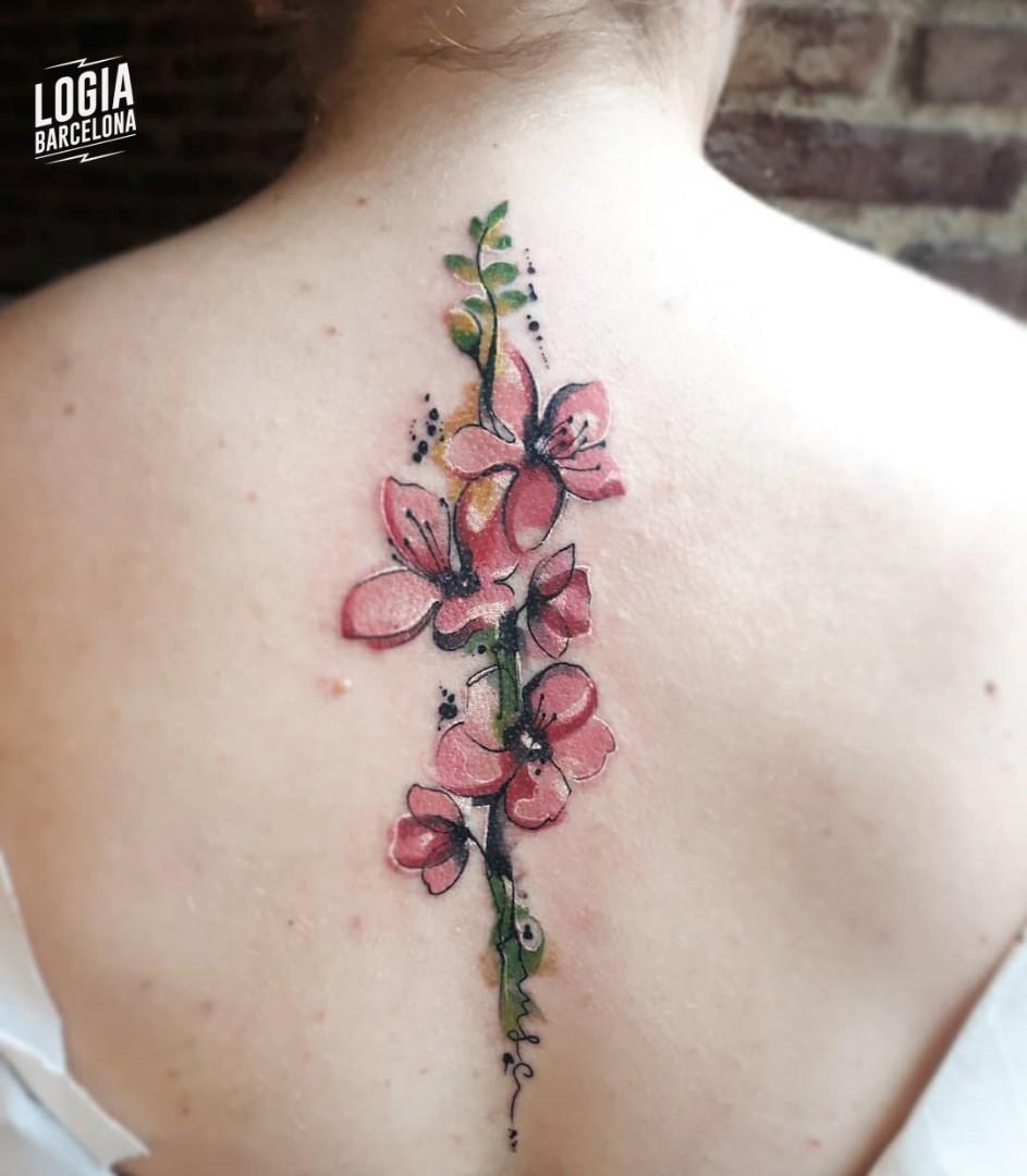 Tatuajes De Flores Japonesas Logia Tatoo Barcelona
