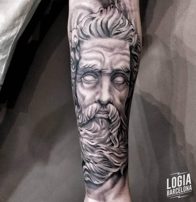 Tatuajes De Zeus Logia Tattoo Barcelona