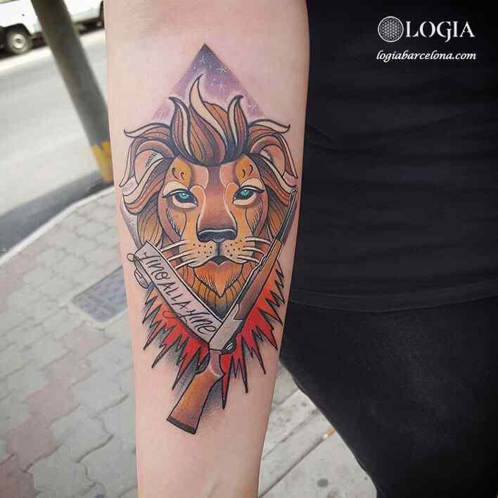Tatuaje De León Tatuajes Logia Barcelona