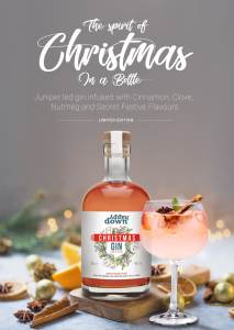 HappyDown Christmas Gin Poster