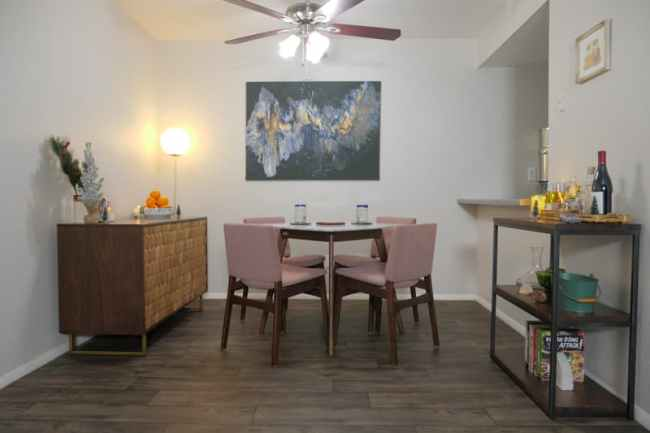 My Small Dining Room Makeover & Tour with Article!