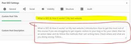 How to write SEO Post Title Meta Description Perfectly, what is seo