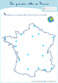 Carte Grandes Villes De France : carte, grandes, villes, france, Villes, France