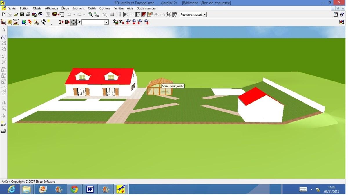 test 3d jardin paysagisme de microapp logiciels. Black Bedroom Furniture Sets. Home Design Ideas