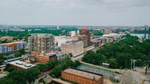 Aerial View of Minneapolis Cityscape