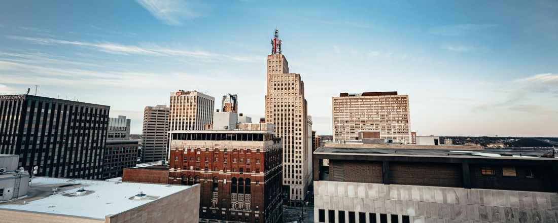 Skyline of St Paul Minnesota