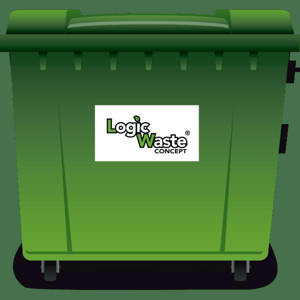 LogicWaste ® 1100 liter rolcontainer
