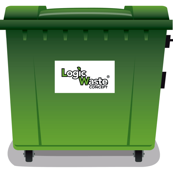 LogicWaste ® 1100 liter rolcontainer