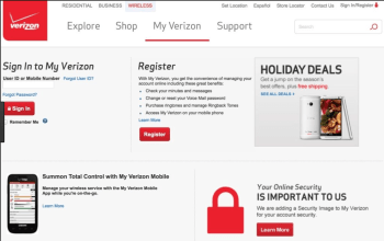 Verizon Wireless Login