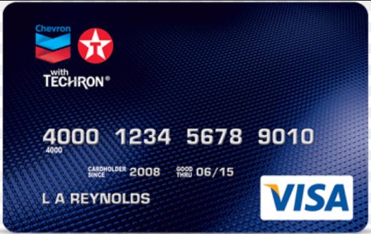 Chevron And Texaco Credit Card