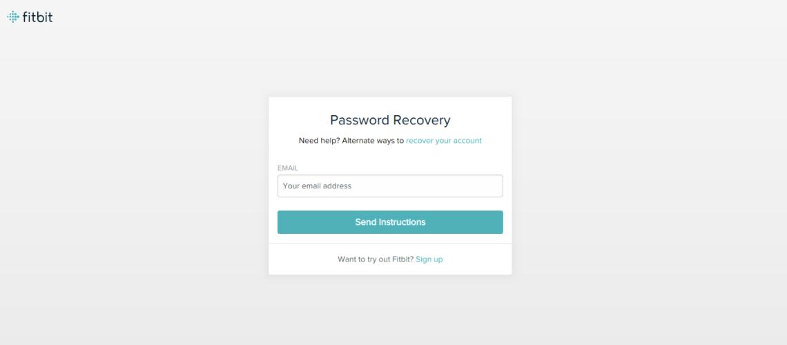 Fitbit Forgot Password