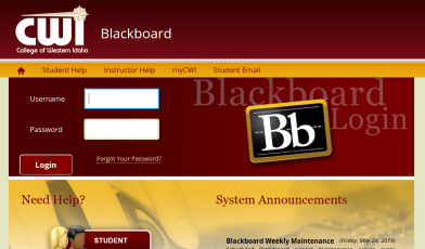 CWI Blackboard Login