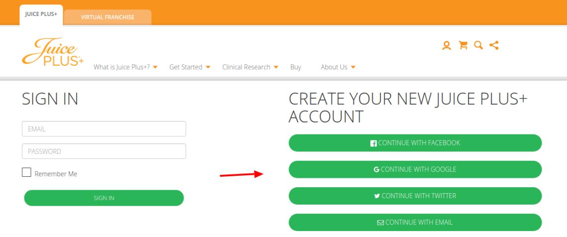 Juice Plus Create Account