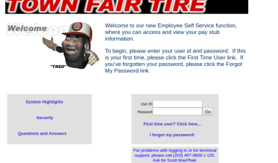 Town Fair Tire Employee Login