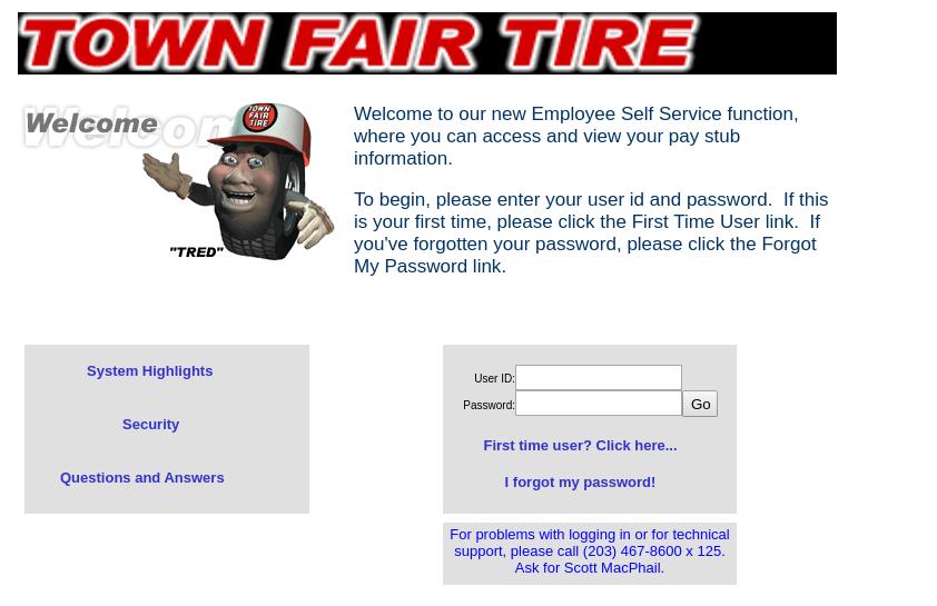 Town Fair Tire Employee Login